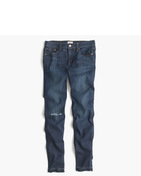 J.Crew 8 Toothpick Jean In Point Lake Wash