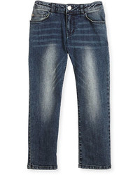 Armani Junior Faded Slim Fit Stretch Jeans Navy Size 12m 3