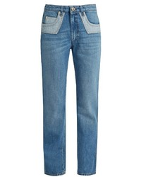 Sonia Rykiel Bi Colour Pockets Straight Leg Jeans