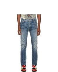 Palm Angels Blue Biker Jeans
