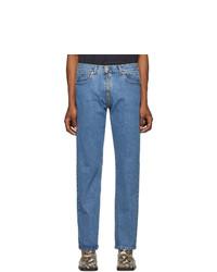 Vetements Blue Crotch Zip Jeans