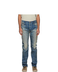 Fear Of God Blue Distressed Jeans