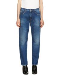 MSGM Blue Fur Appliqu Jeans