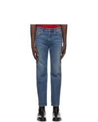 Balenciaga Blue High Twisted Jeans