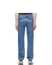Vetements Blue Laser Logo Jeans