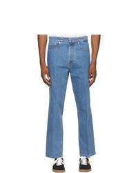 Lanvin Blue Logo Hardware 5 Pocket Jeans