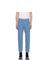 Mugler Blue Low Spiral Jeans