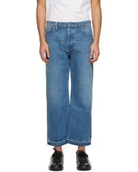 Valentino Blue Navy Denim Paneled Jeans