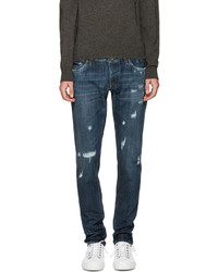Dolce & Gabbana Blue Sicilian Western Jeans