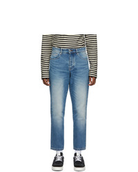 AMI Alexandre Mattiussi Blue Tapered Fit Jeans