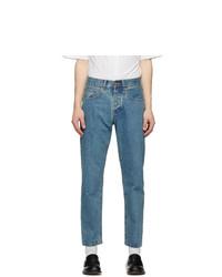 Han Kjobenhavn Blue Tapered Heavy Stone Wash Jeans