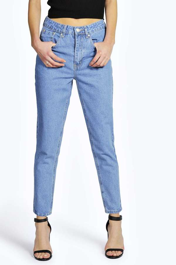 Boohoo Zoe High Waisted Vintage Slim Leg Mom Jeans | Where to buy ...