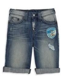 True Religion Boys Patch Detail Jean Shorts