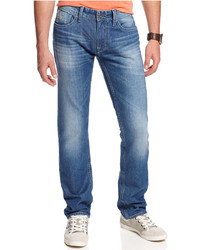 GUESS Bureau Wash Slim Taper Jeans