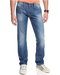 GUESS Bureau Wash Slim Taper Jeans