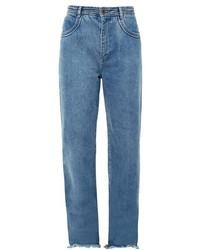 Chloé Chlo Frayed Hem Wide Leg Jeans