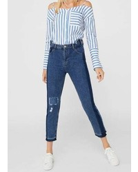 Mango Contrast Mom Jeans