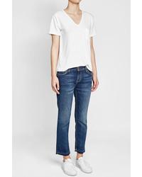 Current/Elliott Cropped Straight Leg Jeans