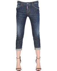 Dsquared2 Cool Girl Cropped Denim Jeans W Patches
