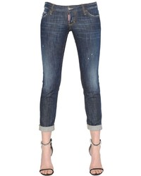 Dsquared2 Pat Washed Cotton Denim Jeans