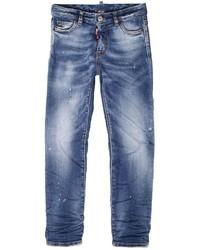 DSQUARED2 Slim Wrinkled Super Stretch Denim Jeans