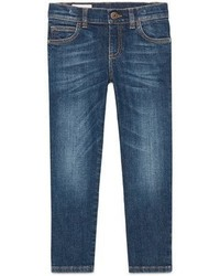 Gucci Faded Stretch Slim Fit Denim Jeans Blue Size 6 12