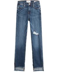 Frame Denim Le High Straight Raw Jeans