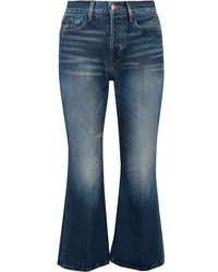Frame Rigid Re Release Le Cropped High Rise Slim Leg Jeans Mid Denim