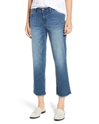 1822 Denim Frayed Ankle Straight Leg Jeans