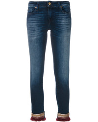 7 For All Mankind Frayed Hems Cropped Jeans
