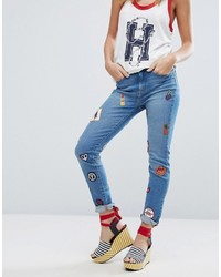 Tommy Hilfiger Gigi Hadid High Waist Jean With Patches