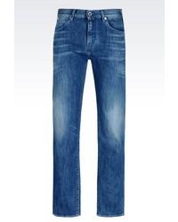 Giorgio Armani Regular Fit Medium Wash Jeans