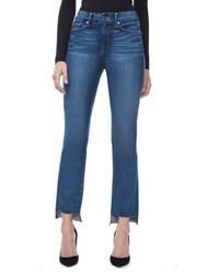 Good American Good Straight Raw Hem High Waist Straight Leg Jeans