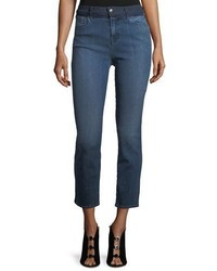 J Brand High Rise Straight Leg Cropped Jeans