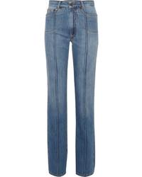 Maison Margiela High Rise Straight Leg Jeans Blue