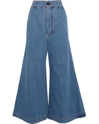 Marni High Rise Wide Leg Jeans Blue
