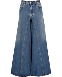 MM6 MAISON MARGIELA High Rise Wide Leg Jeans Mid Denim