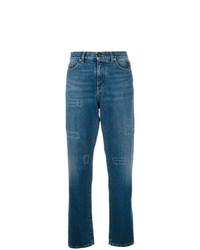 Saint Laurent High Waisted Straight Leg Jeans