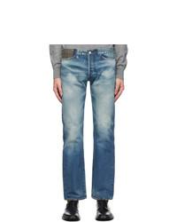 Junya Watanabe Indigo Levis Edition Wool Tweed Jeans