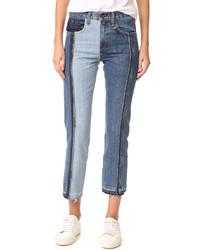 Rag & Bone Jean 2 Tone Crop Jeans
