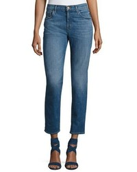 J Brand Johnny Mid Rise Boy Fit Jeans Blue