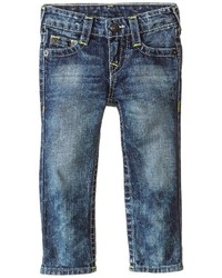 True Religion Kids Geno Natural Single End Jeans In Hawks Navy