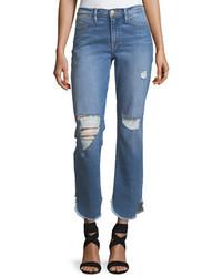 Frame Le High Straight Leg Jeans W Petal Hem