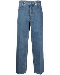 Lanvin Logo Patch Straight Leg Jeans