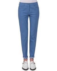 Akris Magda Slim Leg Ankle Jeans