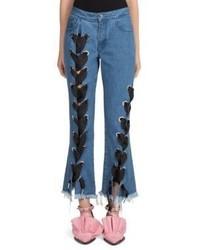 MARQUES ALMEIDA Marquesalmeida Lace Up Denim Jeans