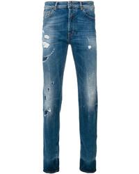 Marcelo Burlon County of Milan Mas Slim Fit Vintage Wash Jeans