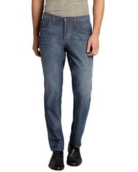Gucci Medium Blue Denim Button Fly Skinny Jeans