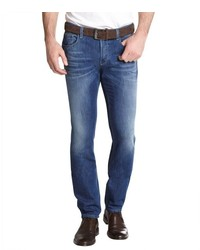 Gucci Medium Wash Button Fly Skinny Straight Leg Jeans