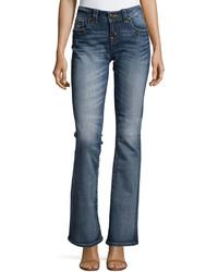Miss Me Mid Rise Boot Cut Denim Jeans Mk 296